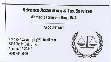 Advance Accounting Tax Services